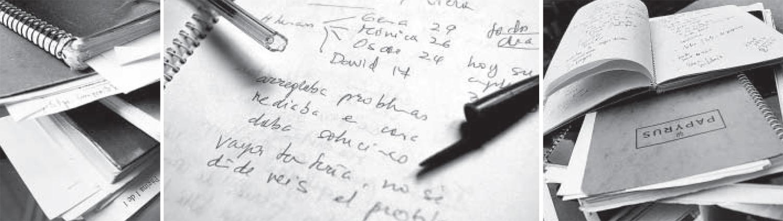 Mis cuadernos, mi bolígrafo (foto: Jorge París)