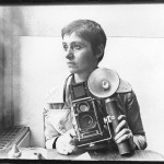 Diane Arbus poses for a portrait in the Automat at Sixth Avenue in New York, c1968 Photograph: Roz Kelly/Getty Images