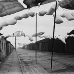 Humphrey Spender, Ashington - Washing in road between terraced housing, 1937 38, Street