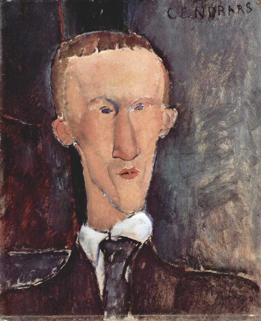 Blaise Cendrars, pintado por Amedeo Modigliani