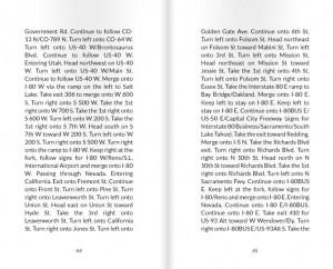 """Dos de las páginas de """"On the Road for 17527 Miles"""""""