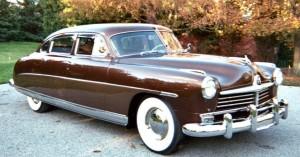 Modelo de Hudson de 1949 como el usado en el segundo viaje de la novela de Kerouac