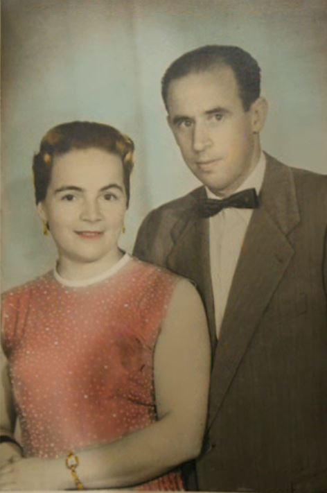 Mis padres, a comienzos de los años sesenta